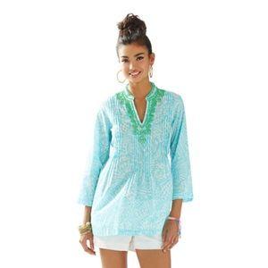 Lilly Pulitzer Sarasota Beaded Tunic Top